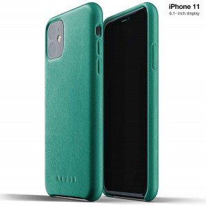 MUJJO Full Leather Case - Δερμάτινη Θήκη iPhone 11 - Alpine Green
