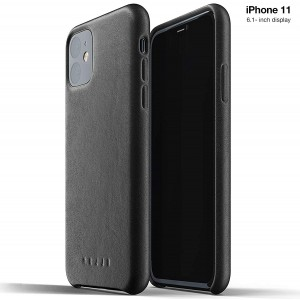 MUJJO Full Leather Case - Δερμάτινη Θήκη iPhone 11 - Black