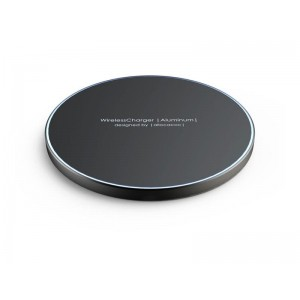 Allocacoc Aluminum Wireless Charger - Super Slim Quick - Ασύρματος Φορτιστής - 10W - Black