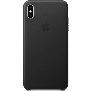 Official Apple Δερμάτινη Θήκη iPhone XS Max - Black