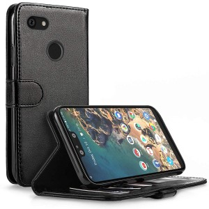 Caseflex Θήκη - Πορτοφόλι Leather Effect Google Pixel 3 XL - Black