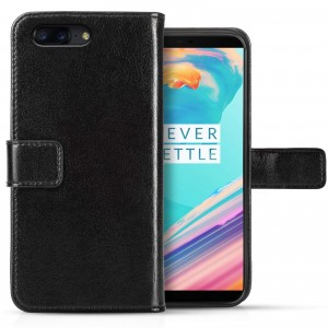Caseflex Θήκη-Πορτοφόλι OnePlus 5T - Black (ONE-PLUS-Z447)