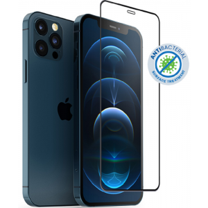Crong Anti-Bacterial 3D Armor Glass - Fullface Αντιβακτηριδιακό Tempered Glass Apple iPhone 12 / 12 Pro - Black