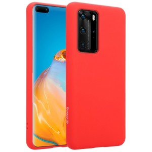 Crong Color Θήκη Premium Σιλικόνης Huawei P40 Pro - Red