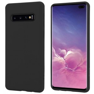 Crong Color Θήκη Premium Σιλικόνης Samsung Galaxy S10 Plus - Black