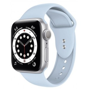 Crong Liquid Λουράκι Premium Σιλικόνης Apple Watch SE/6/5/4/3 (40/38MM) - Azure