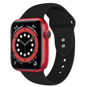 Crong Liquid Λουράκι Premium Σιλικόνης Apple Watch SE/6/5/4/3 (40/38MM) - Black