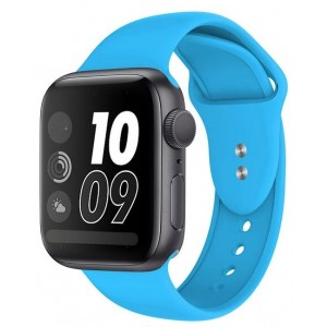 Crong Liquid Λουράκι Premium Σιλικόνης Apple Watch SE/6/5/4/3 (40/38MM) - Blue