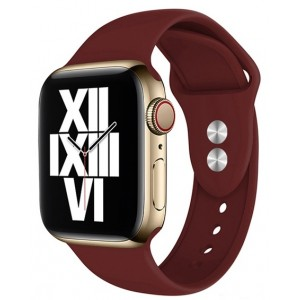 Crong Liquid Λουράκι Premium Σιλικόνης Apple Watch SE/6/5/4/3 (40/38MM) - Bordeaux