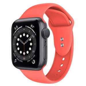 Crong Liquid Λουράκι Premium Σιλικόνης Apple Watch SE/6/5/4/3 (40/38MM) - Coral
