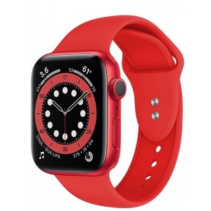 Crong Liquid Λουράκι Premium Σιλικόνης Apple Watch SE/6/5/4/3 (40/38MM) - Red