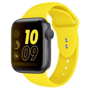 Crong Liquid Λουράκι Premium Σιλικόνης Apple Watch SE/6/5/4/3 (40/38MM) - Yellow