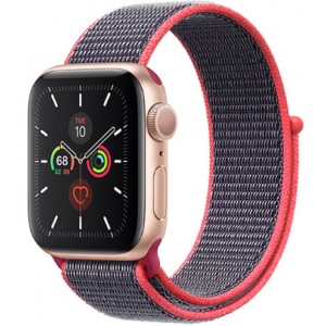Crong Nylon Λουράκι Apple Watch 5/4/3/2/1 (40/38mm) - Electric Pink