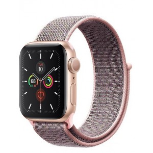 Crong Nylon Λουράκι Apple Watch SE/6/5/4/3/2/1 (40/38mm) - Light Pink