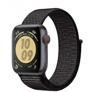 Crong Nylon Λουράκι Apple Watch SE/6/5/4/3 (40/38mm) - Black