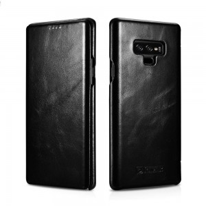 iCarer Vintage Series Side-Open Δερμάτινη Θήκη Samsung Galaxy Note 9 - Black (13926)