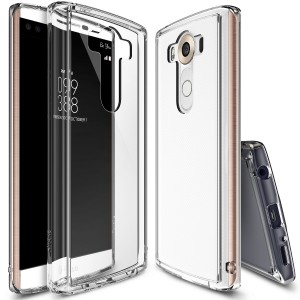 Ringke (Fusion) Διάφανη Θήκη LG V10 με TPU Bumper + Screen Protector (RFSLGV10CR)