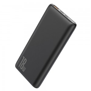 Baseus Bipow Power Bank 10000mAh 18W Quick Charge 3.0 - Black
