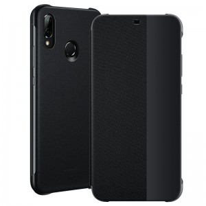 Huawei Official Smart View Flip Cover - Θήκη με Smart Window για Huawei P20 Lite - Black