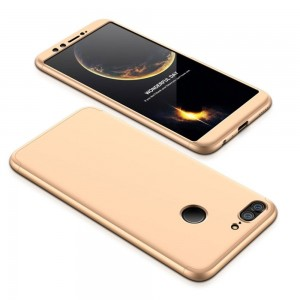 GKK Θήκη Hybrid Full Body 360° Huawei Honor 9 Lite - Gold