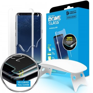 Whitestone Dome Glass - Liquid Optical Clear Adhesive & Installation Kit - Σύστημα προστασίας οθόνης Samsung Galaxy S9