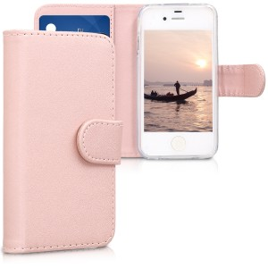 KW Θήκη - Πορτοφόλι Apple iPhone 4 / 4S - Protective Leather Flip Cover - Pink