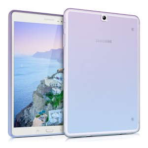 KW Θήκη Σιλικόνης Samsung Galaxy Tab S2 9.7' - Soft Flexible Shock Absorbent Protective Cover - Violet / Blue / Transparent
