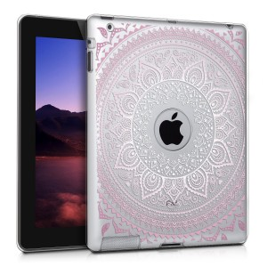 KW Θήκη Σιλικόνης Apple iPad 3 / 4 - Soft Flexible Shock Absorbent Protective Cover - Light Pink / White / Transparent