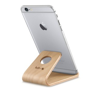 Universal Wooden Stand - Ξύλινη Βάση για iPhone / Android / Tablet / e-Reader - Light Brown
