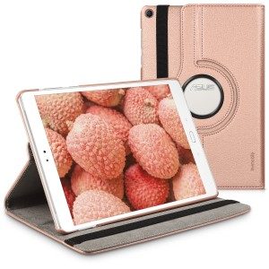KW Θήκη 360° Asus ZenPad 3S 10 (Z500M) - PU Leather Protective Tablet Cover with Stand Function - Rose Gold