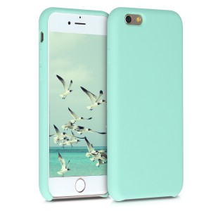 KW Θήκη Σιλικόνης iPhone 6 / 6S - Soft Flexible Rubber Protective Cover - Pastel Green