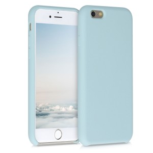KW Θήκη Σιλικόνης iPhone 6 / 6S - Soft Flexible Rubber Protective Cover - Pastel Blue (40223.177)