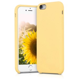 KW Θήκη Σιλικόνης iPhone 6 / 6S - Soft Flexible Rubber Protective Cover - Yellow Matte