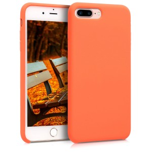 KW TPU Θήκη Σιλικόνης Apple iPhone 7 Plus / 8 Plus - Soft Flexible Rubber Protective Cover - Orange