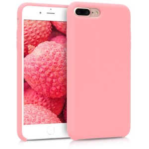 KW Θήκη Σιλικόνης iPhone 8 Plus / 7 Plus - Soft Flexible Rubber Cover - Rose Gold Matte