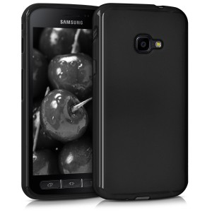 KW Θήκη Σιλικόνης Samsung Galaxy Xcover 4 - Soft Flexible Shock Absorbent Protective Phone Cover - Black Matte