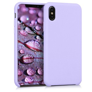 KW Θήκη Σιλικόνης Apple iPhone X - Soft Flexible Rubber Protective Cover - Lavender