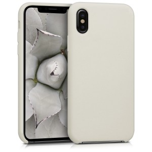 KW Θήκη Σιλικόνης Apple iPhone X - Soft Flexible Rubber Protective Cover - Beige