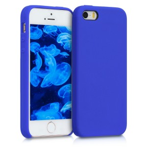 KW TPU Θήκη Σιλικόνης - Apple iPhone SE / 5 / 5S - Soft Flexible Rubber Protective Cover - Royal Blue