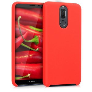 KW Θήκη Σιλικόνης Huawei Mate 10 Lite - Soft Flexible Rubber Protective Cover - Red Matte