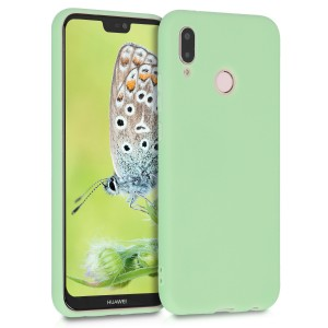 KW Θήκη Σιλικόνης Huawei P20 Lite - Soft Flexible Rubber Protective Cover - Mint Matte