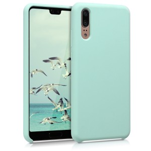 KW TPU Θήκη Σιλικόνης Huawei P20 - Soft Flexible Rubber Protective Cover - Mint Matte