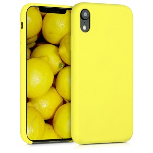 KW Θήκη Σιλικόνης iPhone XR - Soft Flexible Rubber Protective Cover - Neon Yellow