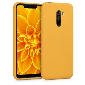 KW Θήκη Σιλικόνης Xiaomi Pocophone F1 - Honey Yellow
