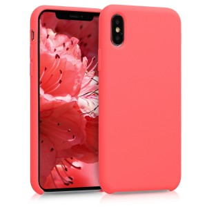 KWmobile Θήκη Σιλικόνης Apple iPhone XS - Soft Flexible Rubber Cover - Living Coral