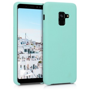 KW Θήκη Σιλικόνης Samsung Galaxy A8 2018 - Soft Flexible Rubber Protective Cover - Mint Matte