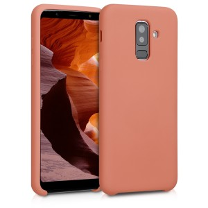 KW Θήκη Σιλικόνης Samsung Galaxy A6 Plus 2018 - Soft Flexible Rubber Protective Cover - Coral Matte