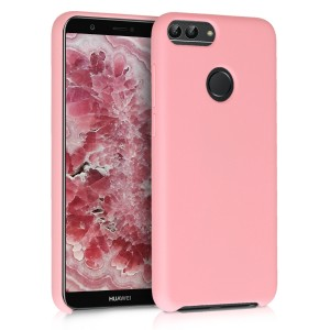 KW TPU Θήκη Σιλικόνης Huawei Enjoy 7S / P Smart - Soft Flexible Rubber Protective Cover - Rose Gold Matte