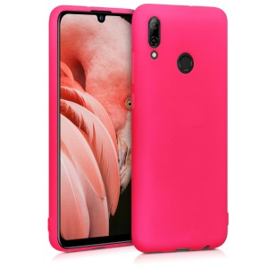 KW Θήκη Σιλικόνης Huawei P Smart (2019) - Soft Flexible Shock Absorbent - Neon Pink