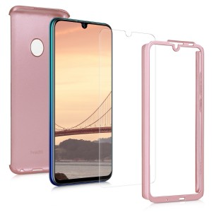 KW Θήκη Full Body with Screen Protector- Huawei P Smart (2019) - Metallic Rose Gold